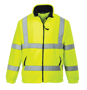 Hi-Vis Mesh Lined Fleece, Yellow