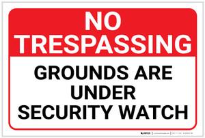 No Trespassing: Grounds Under Security Watch Landscape - Label