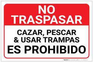 No Trespassing: Posted Private Property Spanish Landscape - Label