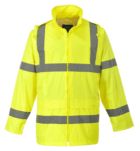 Hi-Vis Rain Jacket, Yellow