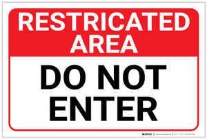 Restricted Area: Do Not Enter Landscape  - Label