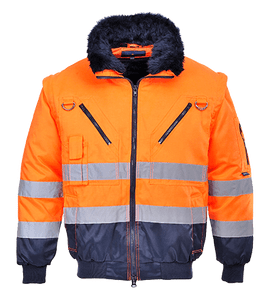Hi-Vis Pilot Jacket, Orange