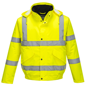 Hi-Vis Bomber Jacket, Yellow