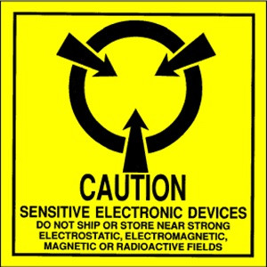 Caution Sensitive Electronics  2 x 2 - Label Roll