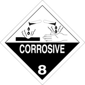 Corrosive  4 x 4 - Label Roll