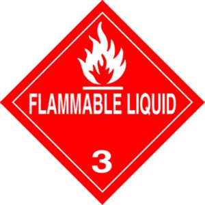 Flammable Liquid  4 x 4 - Label Roll