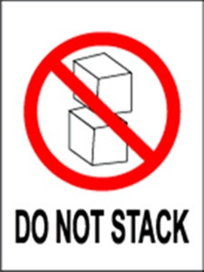 International Do Not Stack  3 x 4 - Label Roll
