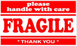 Fragile  3 x 5 - Label Roll