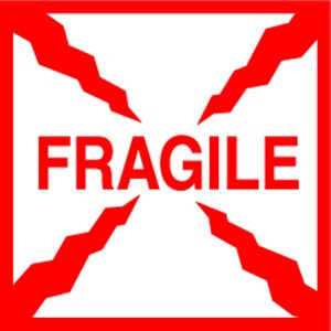 Fragile  4 x 4 - Label Roll
