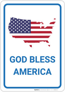 Patriotic - God Bless America - Wall Sign