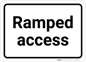 Ramped Access - Wall Sign