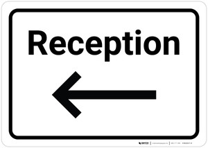 Reception Arrow Left - Wall Sign