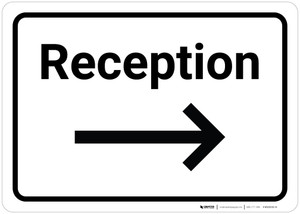 Reception Arrow Right - Wall Sign