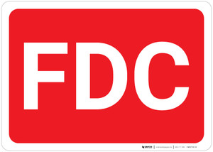 FDC Red Background - Wall Sign