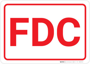 FDC White Background - Wall Sign