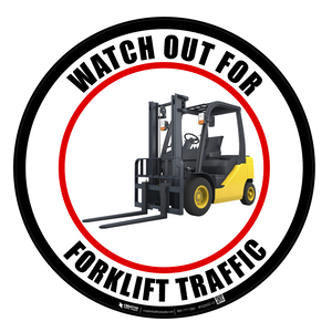 Watch Out For Forklift Traffic - Color