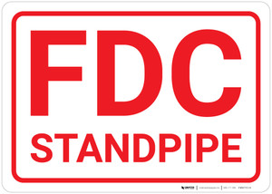 FDC Standpipe White Background - Wall Sign