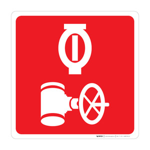 Automatic Sprinkler Control Valve - Wall Sign