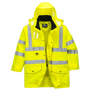 Hi-Vis 7in1 Jacket, Yellow