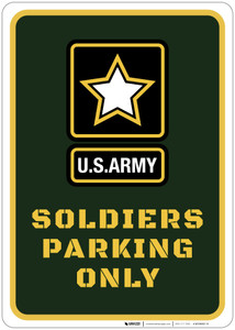 Soldiers Parking Only - Wall Sign