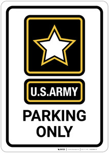 U.S. Army - Parking Only - Wall Sign