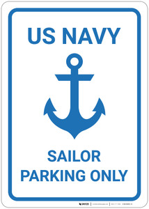 US Navy - Sailor Parking Only - Wall Sign