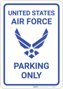 United States Air Force - Parking Only - Wall Sign