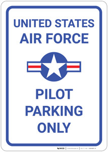 United Air Force - Pilot Parking Only - Wall Sign