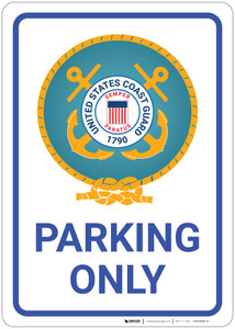 United States Coast Guard - Parking Only - Wall Sign