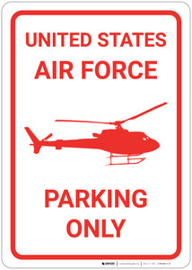United States Air Force - Parking Only with Icon - Wall Sign
