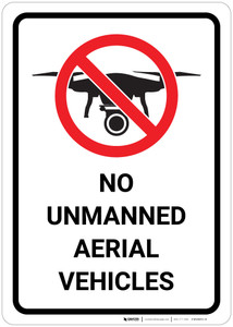 No Unmanned Aerial Vehicles with Icon - Wall Sign