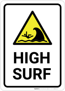 High Surf with Icon - Wall Sign