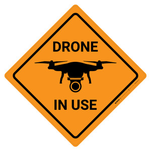 Drone in Use with Icon Square - Wall Sign