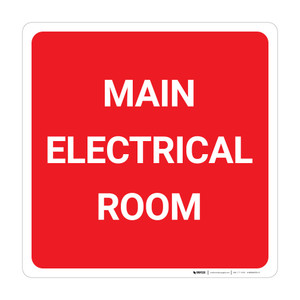 Main Electrical Room Square - Wall Sign