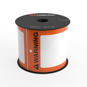 LabelTac® Warning Tag - Safety Orange - Printable Tag Roll