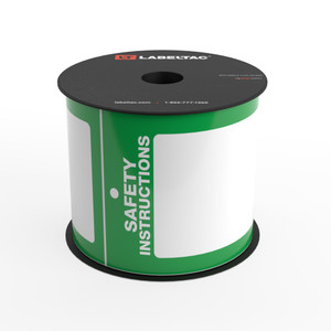 LabelTac®  Safety Instructions Tag - Safety Green - Printable Tag Roll