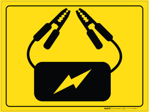 Battery Charger - Floor Marking Sign