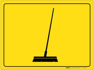 Broom Parking - Floor Marking Sign