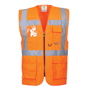 Berlin Executive Hi-Vis Vest, Orange