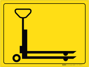 Pallet Jack Parking - Floor Marking Sign