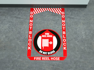Fire Reel Hose - Pre Made Floor Sign Bundle