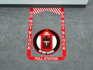 Fire Alarm Pull Station - Pre Made Floor Sign Bundle