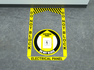 Electrical Panel (Yellow) - Pre Made Floor Sign Bundle
