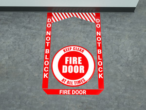 Fire Door - Pre Made Floor Sign Bundle