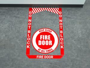 Fire Door - Pre Made Floor Sign Bundle
