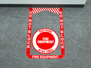 Fire Equipment - Pre Made Floor Sign Bundle