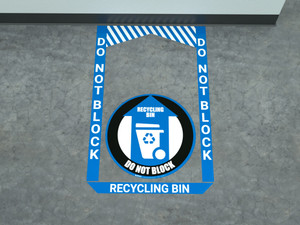 Recycling Bin - Pre Made Floor Sign Bundle