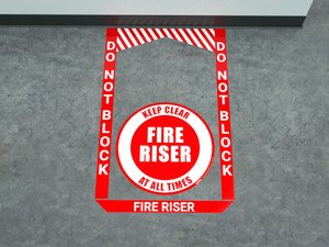 Fire Riser - Pre Made Floor Sign Bundle
