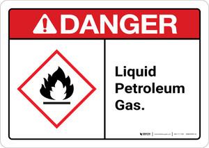 Danger: Liquid petroleum gas Landscape ANSI