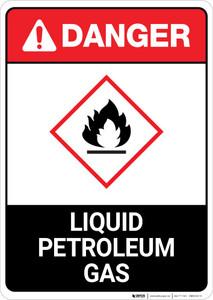 Danger: Liquid Petroleum Gas Portrait ANSI